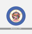 minnesota round circle flag vector image
