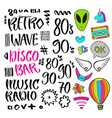 modern lettering pop art stickers and vector image vector image