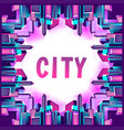 neon city streets vector image