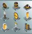 octoberfest color gradient isometric icons vector image vector image