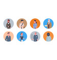 people group different occupation icons set vector image
