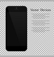 realistic black smartphone with blank screen on vector image