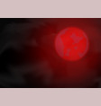 red moon on night sky vector image vector image