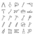 repair and construction tools thin line icons vector image vector image