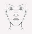 rhinoplasty icon line element vector image