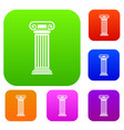 roman column set collection vector image vector image