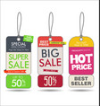 sale tags colorful modern collection 1 vector image