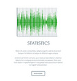 statistics banner isolated on white background vector image vector image