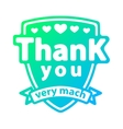 Thank you badge icon vector image