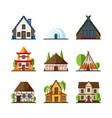 traditional house indian asian rural buildings vector image vector image