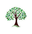 tree with hands social network logo vector image