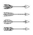 tribal arrows set vector image vector image