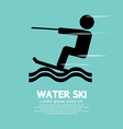 Water Ski Sport Sign vector image vector image
