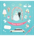 Wedding icons vector image
