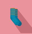 winter socks icon flat style vector image