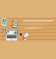 workplace management banner vector image vector image