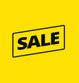 yellow sale banner background vector image vector image