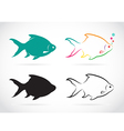 group of fish vector image