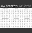 180 modern thin line icons set of web development vector image