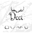 1Set of horns in hand draw style white vector image