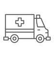 Ambulance thin line icon emergency and hospital