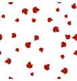 ashleaf maple leaf red pattern seamless vector image vector image