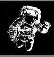 astronaut in outer space elements of this image vector image