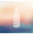 baby bottle icon on blurred background vector image vector image