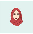 beautiful stylish hijab girl vector image vector image