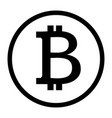 bitcoin icon on white background flat style vector image