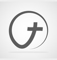 black christian cross icon vector image