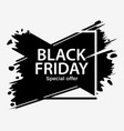 black friday sale banner background with ink vector image vector image