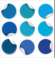 blue stickers collection vector image vector image