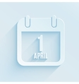 calendar apps icon for 1 april fools day Paper vector image vector image
