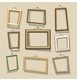 cartoon frames set vector image