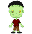 Cartoon Frankenstein kid vector image vector image