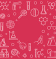 chemistry linear red frame chemical vector image