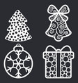 christmas decoration elements christmas vector image