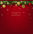 christmas postcard with garland vector image vector image
