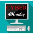 Cyber monday deals design vector image