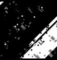 diagonal glitch overlay vector image vector image