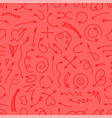 different simple arrows red seamless background vector image vector image