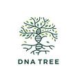 dna tree logo icon vector image vector image