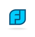 F and J letters monogram logo template vector image vector image
