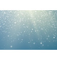 falling snowflakes transparent background winter vector image vector image