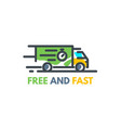 fast delivery service vector image vector image