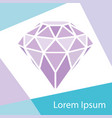 geometrical purple diamond with frame background vector image vector image