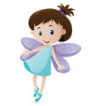 girl with fairy wings vector image vector image