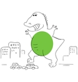 Godzilla vector image