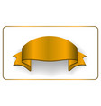 gold satin empty ribbon golden blank banner vector image vector image